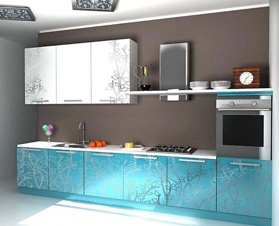 Кухни с глянцевым рисунком